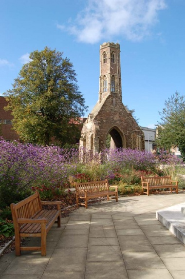 [Image: Greyfriars Tower Gardens - please click to enlarge]